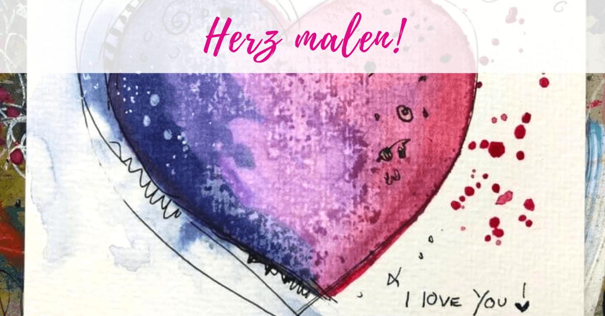 Anleitung herz malen Ein Herz