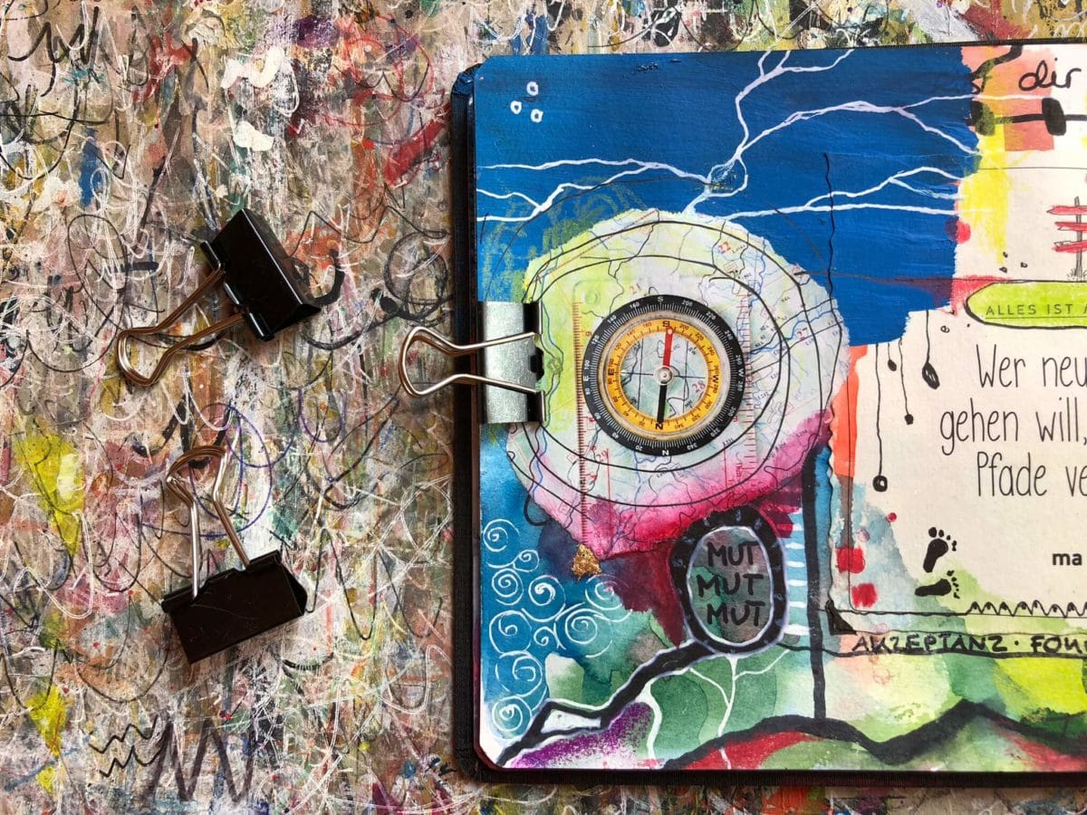 Klammern Art Journaling