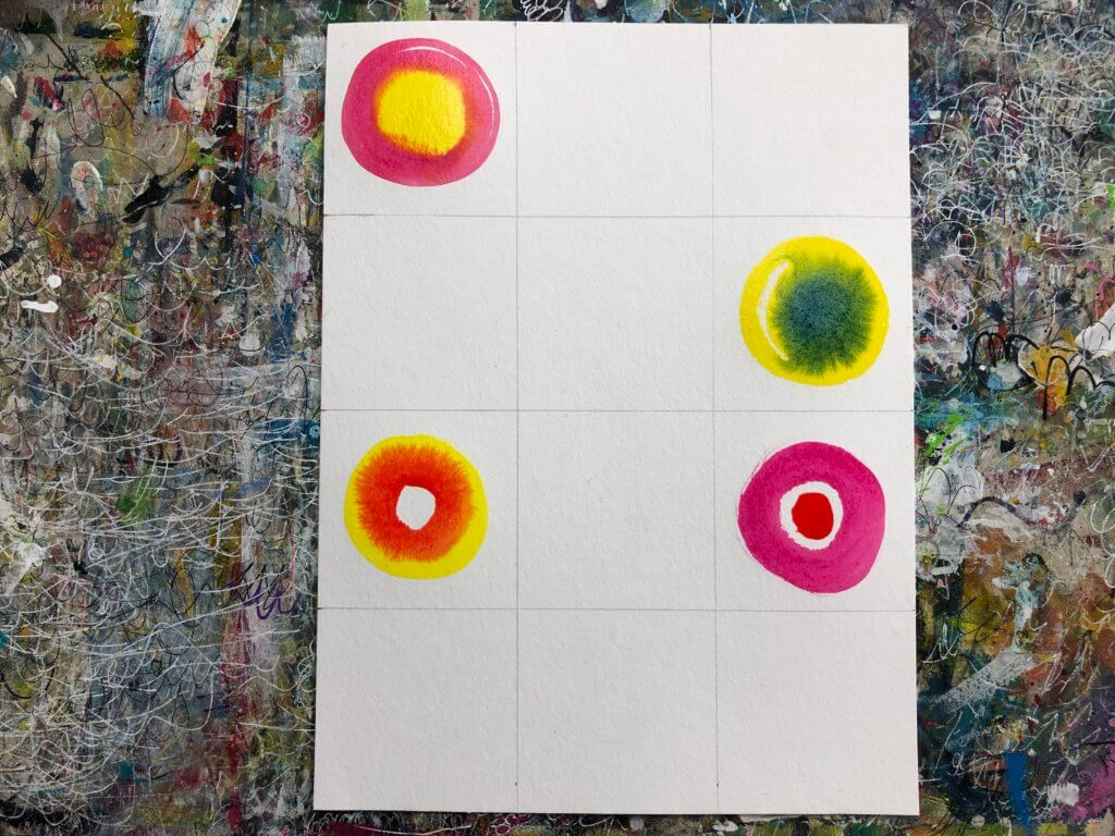 Painting circles: watercolor painting made easy