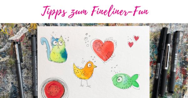 Fineliner Fun beim Happy Painting