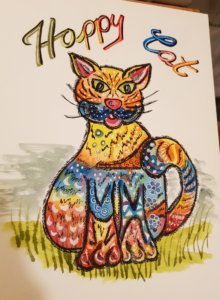 Eine Happy Cat von Christina Brunner