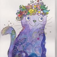 Happy Katze von Alexandra