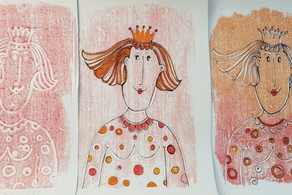 Königin Stempel