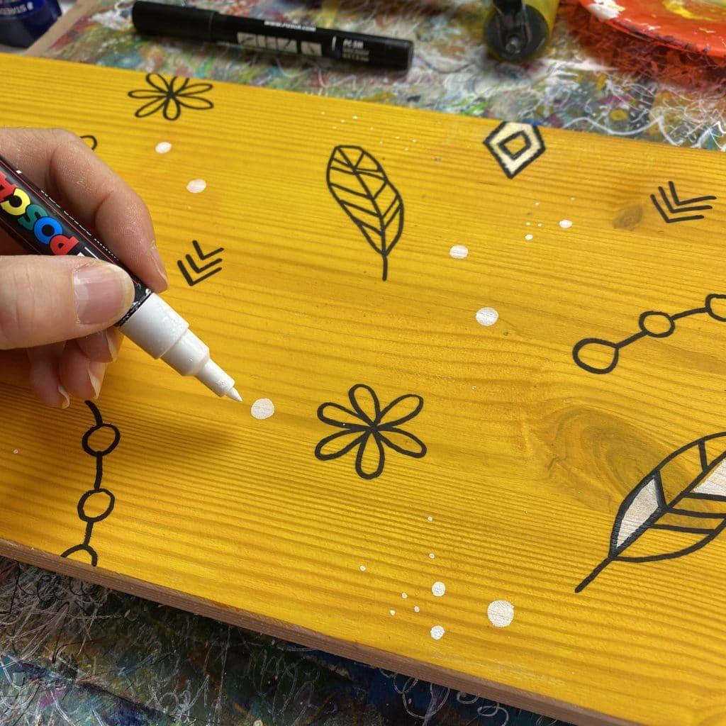 Boho DIY mit Posca Markern