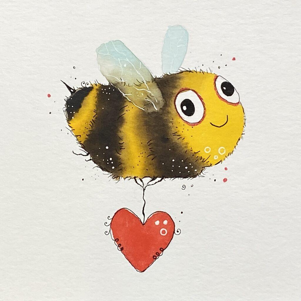Biene zeichnen: So einfach geht es